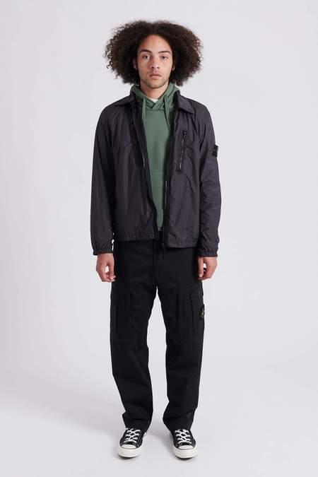 Stone Island 10523 Garment Dyed Crinkle Reps Nylon Over Shirt - Charcoal