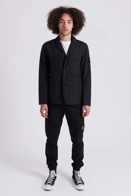 Stone Island O-Cotton/R Nylon Tela Jacket - Black