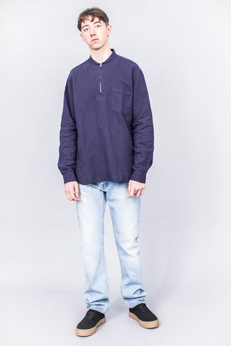 Our Legacy Shawl Zip Purple Blue Cotton/Linen