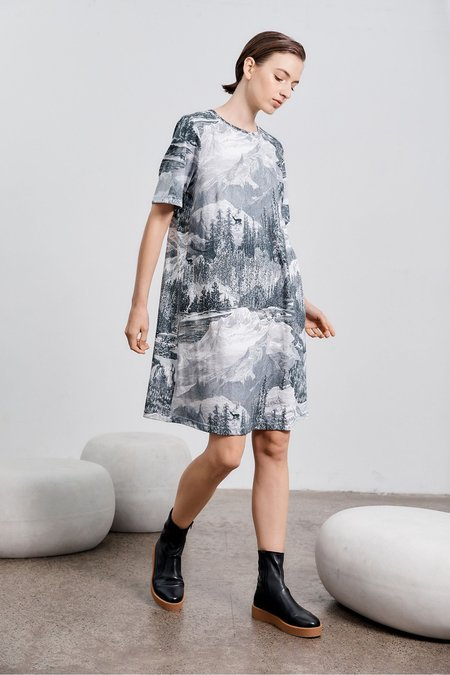 Climber Shift Dress - Etching print PRE-ORDER Despatched October 4th