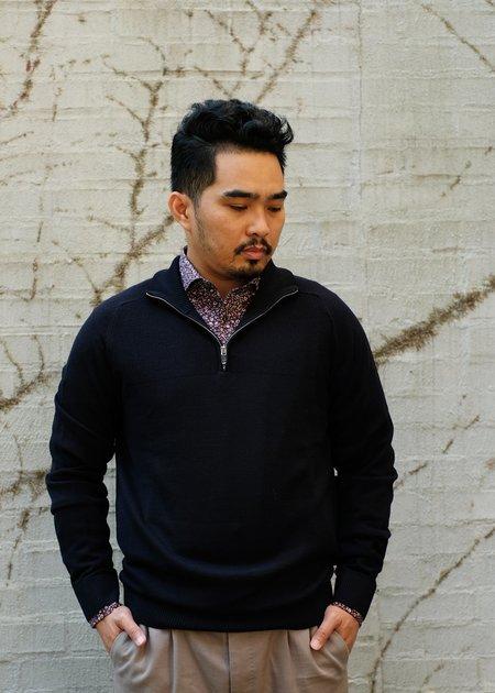 Bruun & Stengade Pivert Wool/Acrylic Sweater - Navy