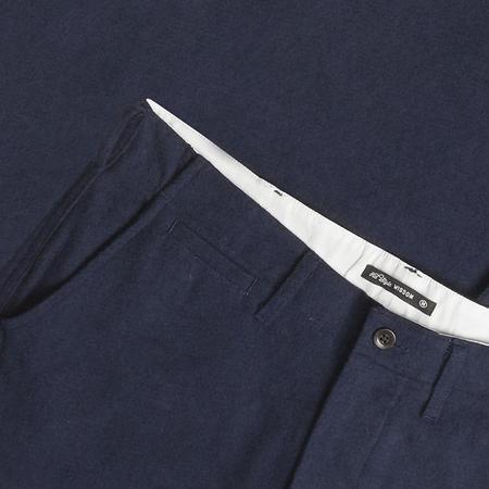 Portuguese Flannel Pinheiro Slim Trousers - Navy