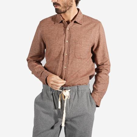 Portuguese Flannel Teca Flannel Shirt - Cinnamon