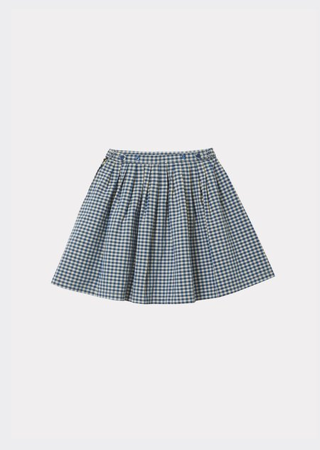 Kids Caramel Bali Skirt - Blue Check
