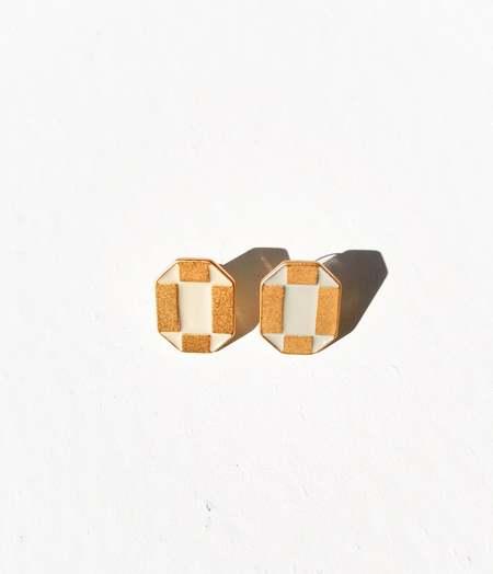 MATTER MATTERS Octagon Studs - Stone