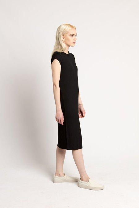 6397 Black Rib Mini Dress