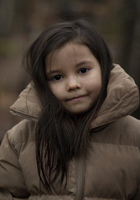 kids I DIG DENIM Long Puffer Jacket - Clay