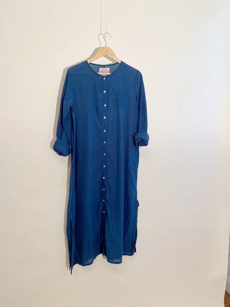 Auntie Oti Maxi Dress - Natural Indigo