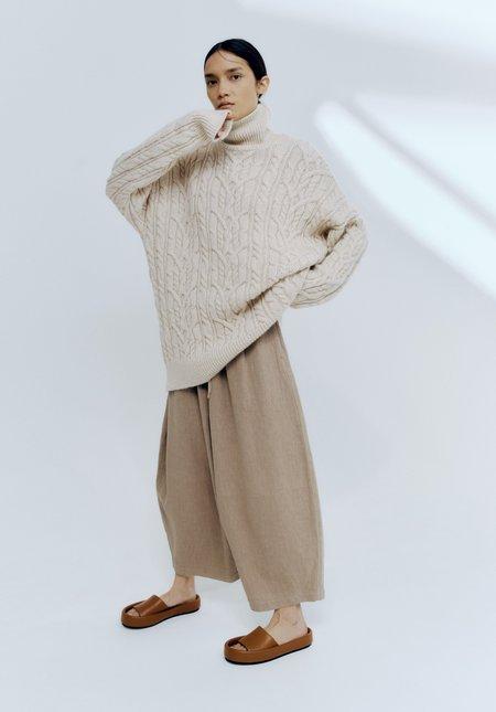 Mónica Cordera Ecowool Turtleneck Sweater - Natural