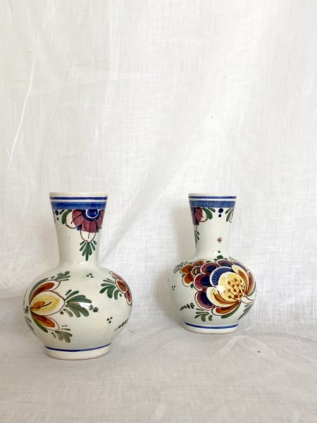 small floral vases - 2pc
