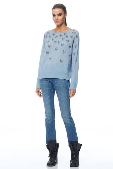 360 Cashmere Ajia Sweater in Delft Blue