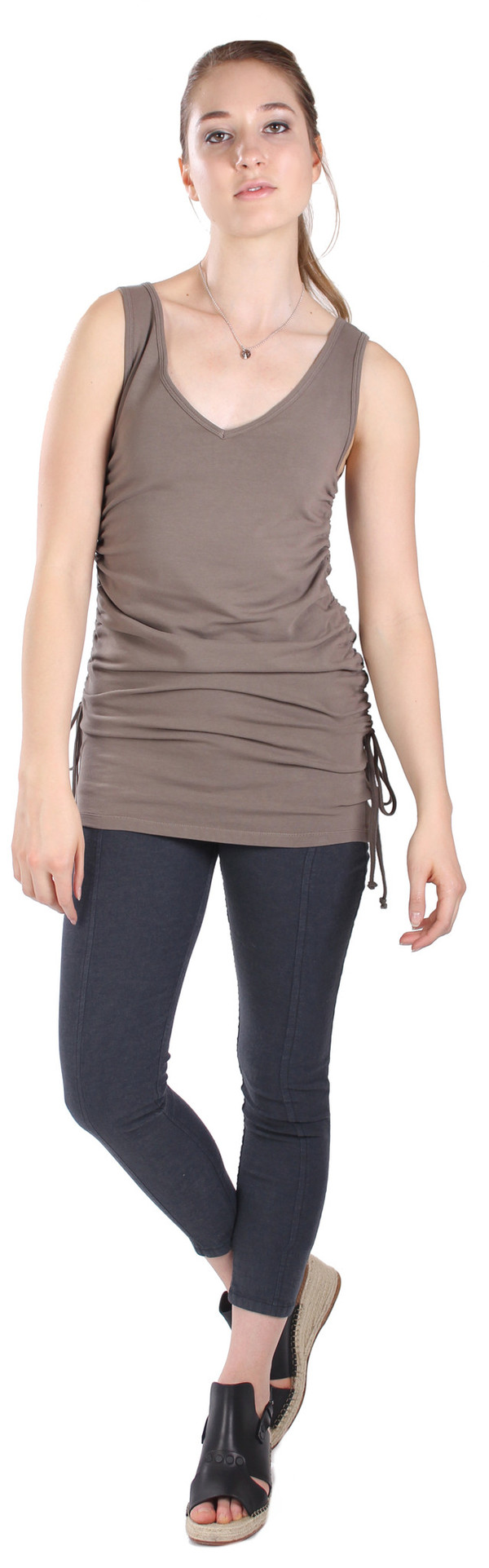 Pre-Order: Rauched Tunic in Olive