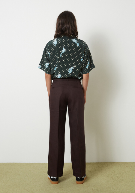 Sandy Liang Boxy Pants - Brunette