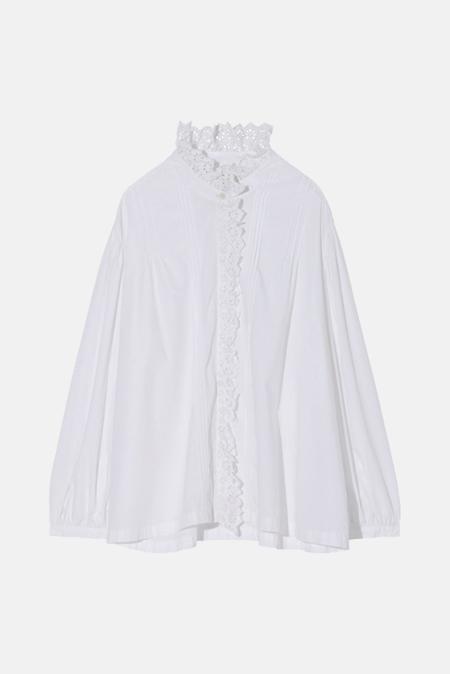 Women's Nili Lotan Ashlyn Shirt in White, Size XS