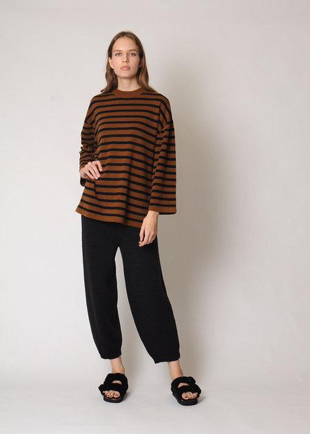Demy Lee Maren Cashmere Sweater - Mocha/navy