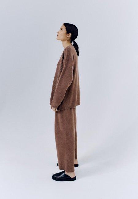Mónica Cordera Baby Alpaca Asymmetric Sweater - Cognac