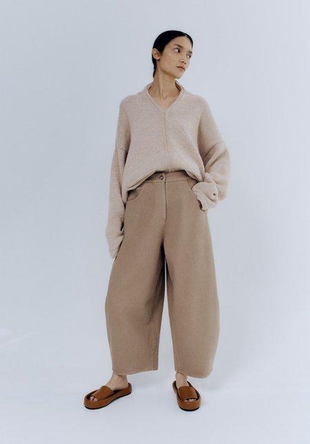 Mónica Cordera Curved Leg Pants - Caramel