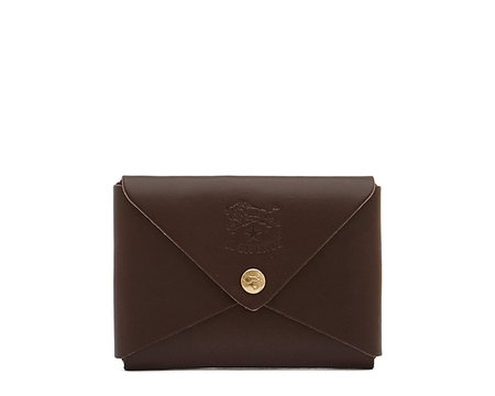 Il Bisonte Card Case - Brown Cowhide Double Leather