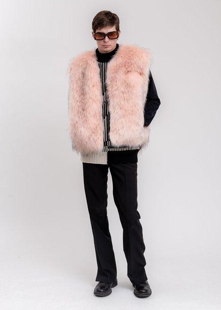 we11done Faux Fur Vest - Pink