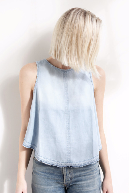 Bella Dahl release hem button back tank