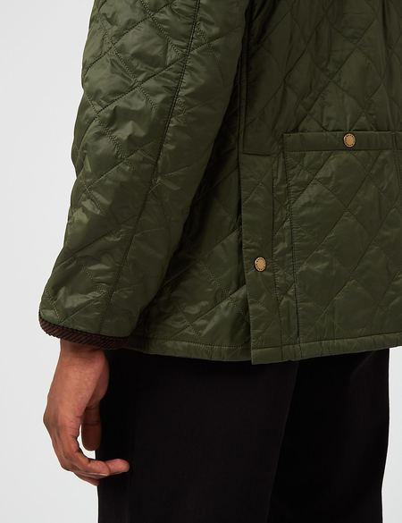 Barbour Staten Quilted Jacket - Olive Green
