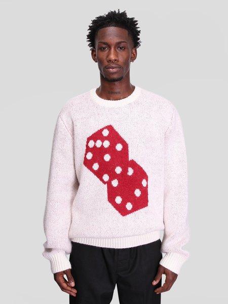 Stussy Dice Mohair Sweater - Bone