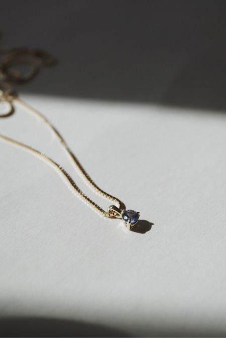 Foe and dear Baby Sapphire Necklace - Gold