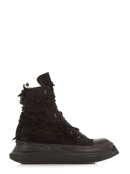 Rick Owens Abstract Sneaks - Destroyed Denim