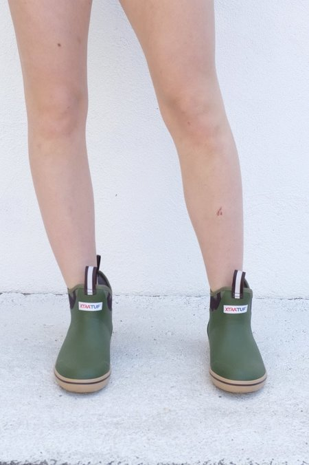 """XTRATUF 6"""" Ankle Deck Boot - Olive/Camo"""