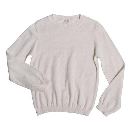 Tia Cibani Kids Baby Crewneck Sweater - Blue/Cream