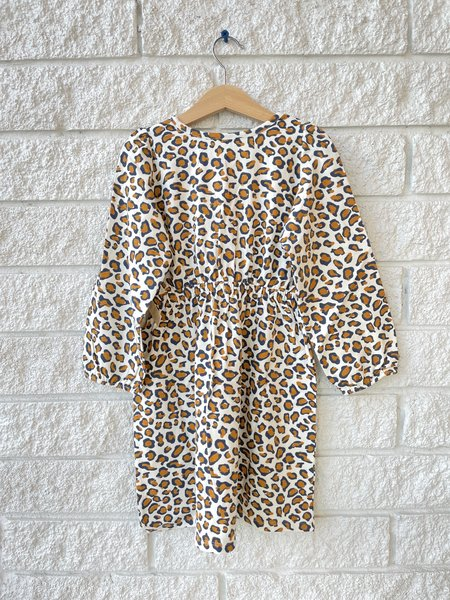 Kids Pink Chicken ORGANIC HADLEY DRESS - Prints leopard