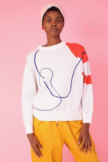 L.F.Markey Knit Sweater - Willow Print
