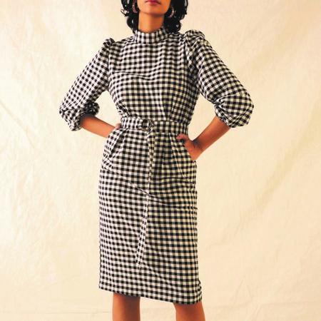 Eve Gravel Franklin Dress - Black/Cream