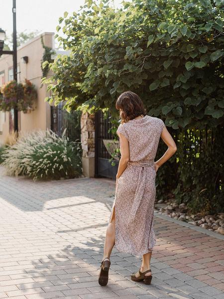 Lilya Palma Dress - Botany Khaki