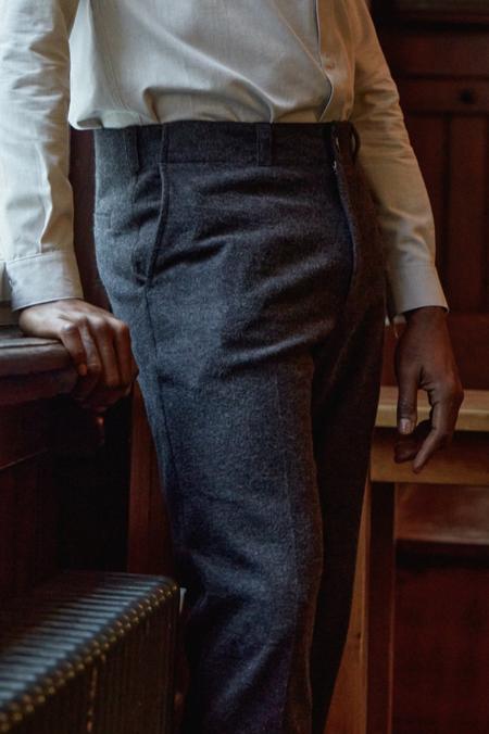 aboutcompanions Jostha pants -  eco padded coal flannel