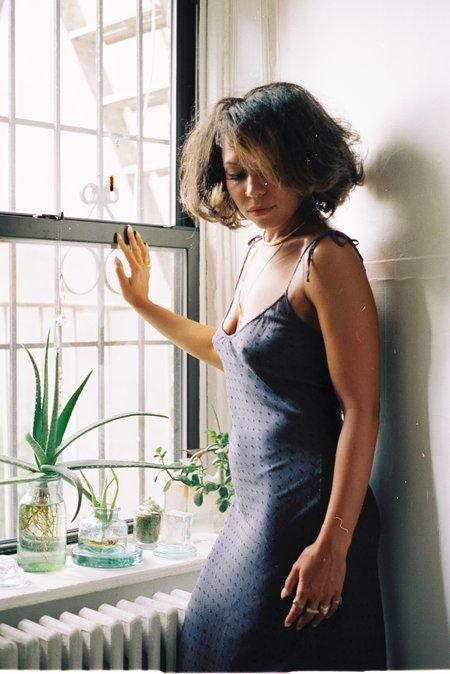 ARIELLE 100% Milk Fabric Milk Slip Dress - Purple