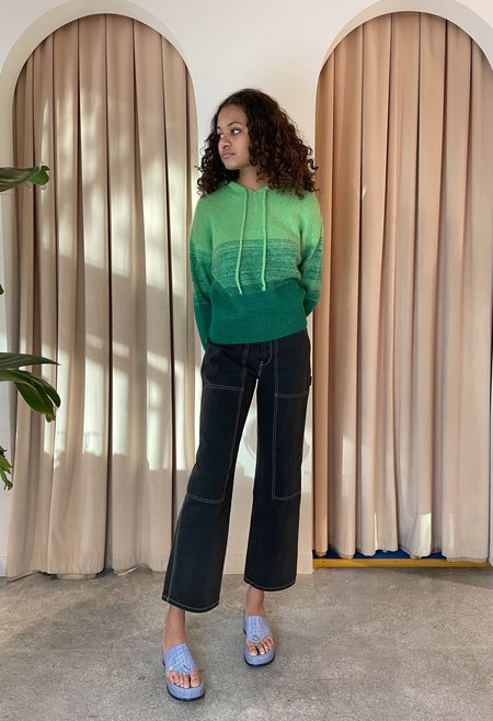Paloma Wool Bilma Knit Hoodie - Aquamarine