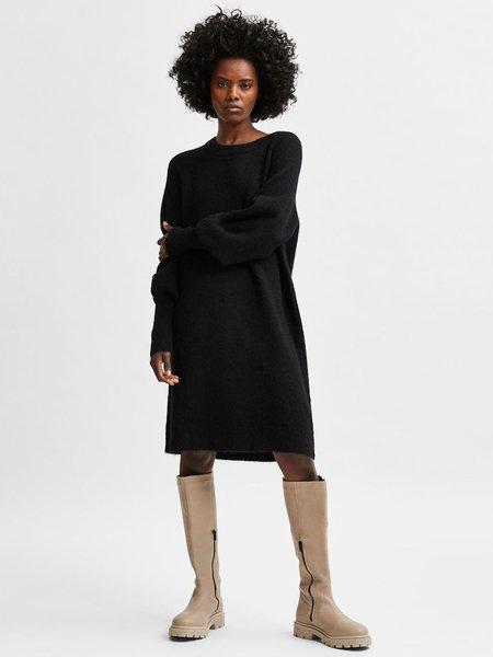 Selected Femme Lulu Knitted Dress - Black