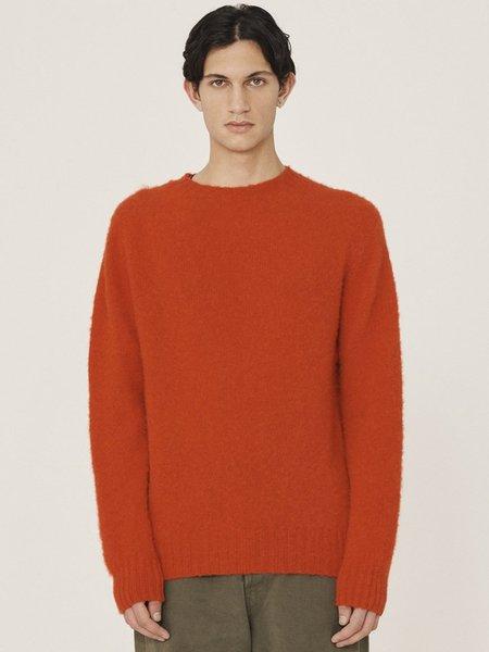 YMC Suedehead Crew Knit - Red