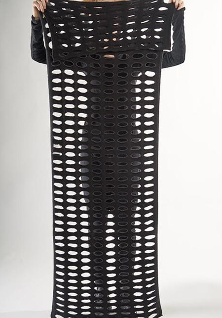 Rundholz Black Label Perforated Knit Scarf - Black