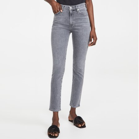 Citizens of Humanity Olivia Zip Jeans - Silvermist