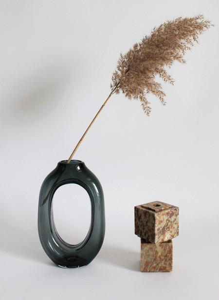 Nanda Soderberg Tall Glass Loop Vase Gray