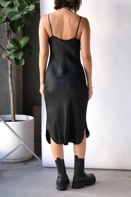 Nili Lotan Short Cami Dress - Jet Black