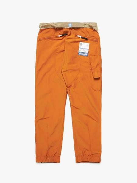 [Pre-Loved] Miharayasuhiro M Orange Aviator Style Raw Hem Waist Detailed Pants-Orange