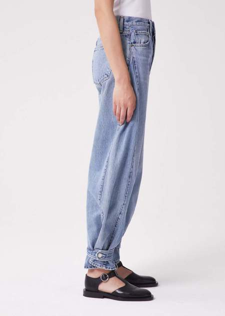 AGOLDE Cleo Pieced Wide Leg Jeans - In Twisted