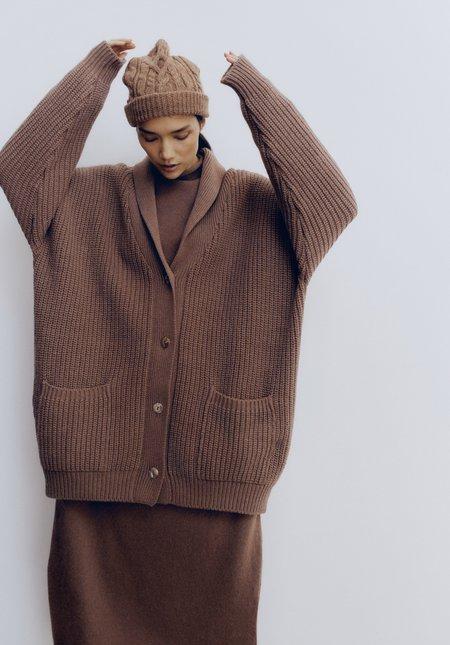 Mónica Cordera Baby Yak Coat - Cognac
