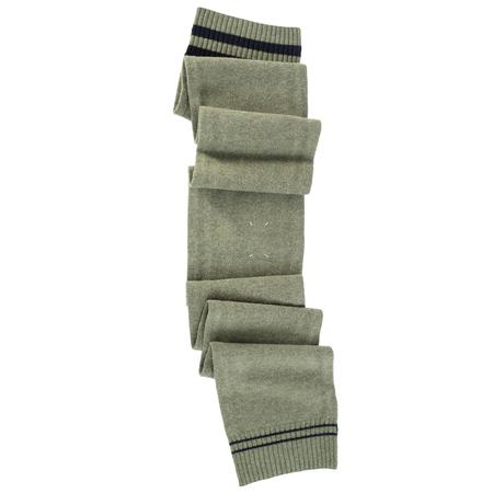 Maison Margiela Contrasting Stripes Wool Scarf - green