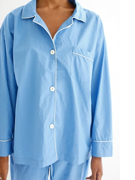 Domi Oversized Pajama Set - Azure