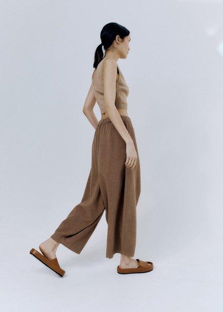 Monica Cordera  Ramie Maxi Pants - Camel