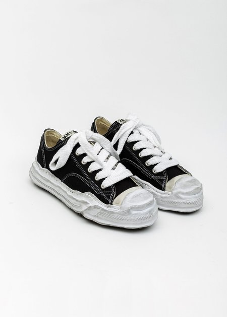 Mihara Yasuhiro Original Distressed Effect Sole Canvas Sneaker - Black